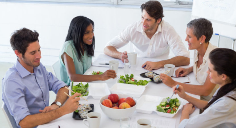 Eating healthily at work matters