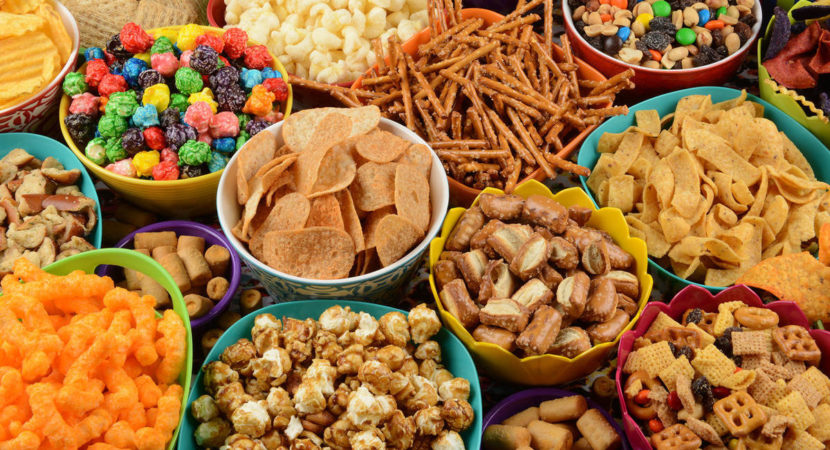 cropped Offering children a wide variety and large quantities of snack food encourages them to eat more
