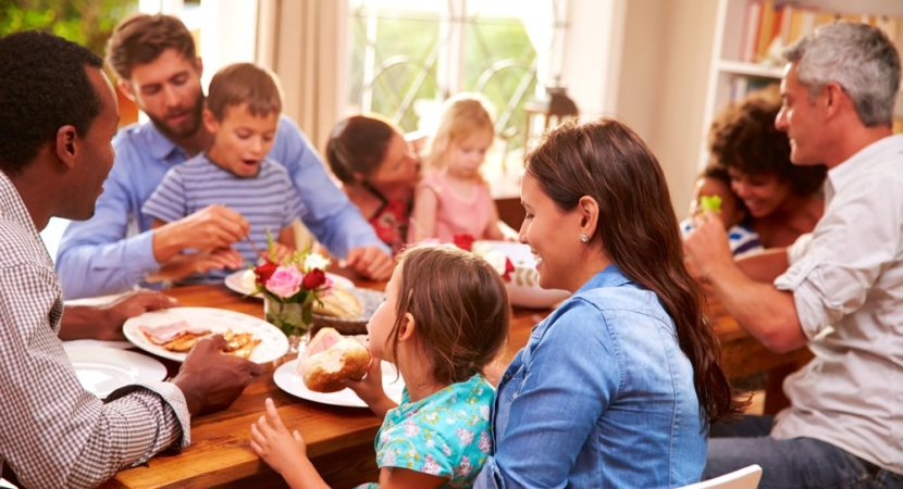 People eat more when dining with friends and family