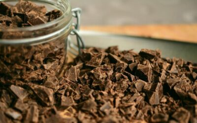 More healthful milk chocolate by adding peanut coffee waste